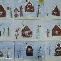 Рисование русской зимней избушки красками. Мастер-класс
