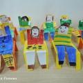 Конспект продуктивной деятельности с детьми. Конструирование поделки из бумаги «Стул с сидящим человечком»