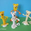 «Кошачья семейка». Мастер-класс поделки из бросового материала с использованием синельной проволоки