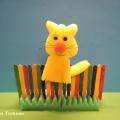 Игрушка из поролона «На заборе сидит кот, он мурлычет и поет». Мастер-класс