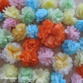 Мастер-класс по изготовлению больших цветов из салфеток для оформления интерьера помещения к 8 Марта. Игры детей с цветами