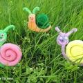 Мастер-класс «Игрушки из поролона «Разноцветные улитки»