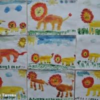 Мастер-класс поэтапного рисования льва красками для детей старшего дошкольного возраста