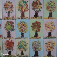 «Осеннее дерево». Конспект НОД по рисованию нетрадиционным способом с использованием детских мастер-классов