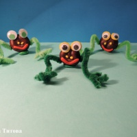 «Веселые лягушата». Детский мастер-класс поделки из природного материала для совместного творчества в кругу семьи