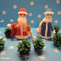 Мастер-класс. Новогодняя игрушка из поролона и бросового материала «Дед Мороз»