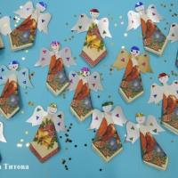 Мастер-класс «Рождественские ангелы из салфеток» для совместного творчества детей и родителей