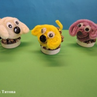 Мастер-класс по изготовлению поделки из сосновой шишки «Собачка Мопс»