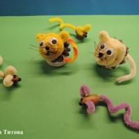 Мастер-класс по изготовлению поделки из сосновой шишки «Котята и мышата» для совместного творчества родителей и детей