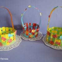 Мастер-класс плетения из бумажных полосок «Корзинка для Машеньки»