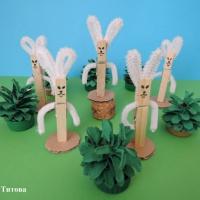 Мастер-класс по изготовлению макета по сказке «Заяц— хваста» из прищепок и синельной проволоки