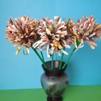 Мастер-класс по изготовлению букета цветов из бросового материала