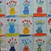 НОД по рисованию «Букет тюльпанов в вазе к 8 марта». Фотоотчет о детском творчестве