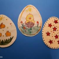 Фотоотчет по росписи пасхального яйца из бумаги акварельными красками