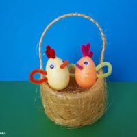 Мастер-класс по изготовлению пасхальной композиции «Цыплята в корзинке»