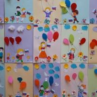 Конспект ООД по изготовлению праздничной открытки в технике «объемной аппликации «Мы идем на праздник с шарами»