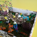 Фотоотчет о выставке поделок из природного материала, посвященной году экологии, в средней группе