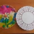 Пластилинография «Цветочки на тарелочке»