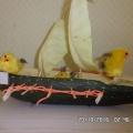 Фотоотчёт о выставке поделок из природного материала «Улыбка осени» (совместное творчество родителей и детей)