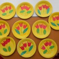 Тарелка с весенними цветами для мамочек. Фотоотчет