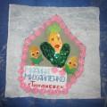 Мой лоскуток для кукурузного одеяла «Блестящая красавица»
