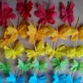 Мастер-класс «Разноцветные бабочки из гофрированной бумаги»