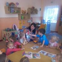 Фотоотчет акции по ПДД «Внимание, дети!» в младшей группе