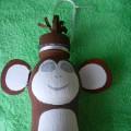 Мастер-класс «Талисман года-обезьянка» (поделка из бросового материала)