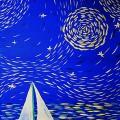 «Луна и море». Мастер-класс по рисованию гуашью с детьми 6–8 лет.