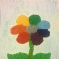 Мастер-класс «Цветок из ниток»