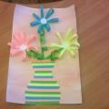 Мастер-класс «Ваза с цветами для мамы»