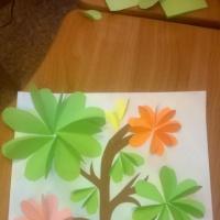 Детский мастер-класс по объёмной аппликации из цветной бумаги «Дерево счастья»