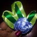 Мастер-класс «Роза из атласной ленты» в технике «цельного отреза ленты»