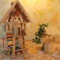 Поделка «Теремок» из деревянных прищепок и палочек для мороженного