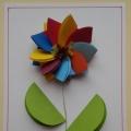 Мастер-класс в технике оригами «Цветок для мамы» с пошаговым фото