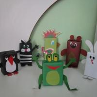 Фотоотчёт «Чудесное превращение коробок в зверюшек с детьми старшего дошкольного возраста»