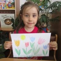 Мастер-класс по рисованию «Тюльпаны» для старшего дошкольного возраста