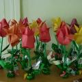 «Тюльпаны для мамы». Мастер-класс