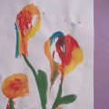 Мастер-класс по нетрадиционной технике «Рисование нитками». «Цветы в подарок»