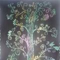 «Кружевная весна», «Летний день», «Сказка зимнего леса» (граттаж). Мастер-класс