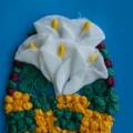 Мастер-класс: поделка из ватных дисков и салфеток «Корзина цветов для любимой мамы»