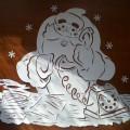 Вытынанка «Подарок Деду Морозу»— мастер-класс