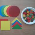 Дидактическая игра «Подбери по цвету и форме».