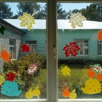 Осенние окна в стиле «вытынанка»