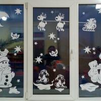 «Новогодние окна-2017». Праздничное оформление в детском саду
