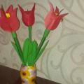 Мастер-класс «Тюльпан в подарок для любимой мамочки»