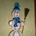 Мастер-класс вязаной игрушки «Снеговик»