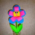 Мастер-класс: объемная поделка из бумаги «Красивый цветочек»