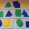 Настольная игра «Геометрические вкладыши» своими руками для детей младшего дошкольного возраста