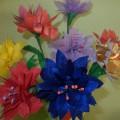 Ручной труд «Букет хризантем» (фотоотчет)